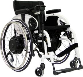 Motorisation pour fauteuil roulant manuel max e - Chaise roulante electrique prix ...
